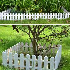 Sopear Miniature Garden Fence Mini Small Decorative Plastic Picket Fence For Diy Miniature Garden Dollhouse Barrier White Shopee Philippines