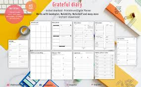 grateful diary journal gratitude quotes mindful exercise