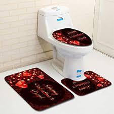 non slip bath mat set 3pcs colorful