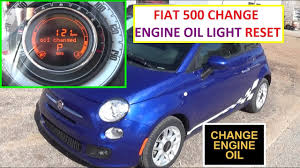 engine oil light reset on fiat 500