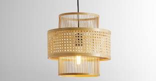 yen pendant lamp shade natural bamboo