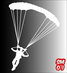 Parachute Skydiving Sticker 150mmh Car Ute Aircraft Army Skydive Plane Drop Zone Skydiving Pictures Skydiving Parachute Skydiving