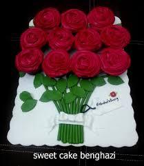 صباحكم ورد طلبية اليوم على شكل باقة ورد Sweet Cake Benghazi