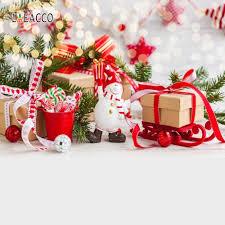 Laeacco هدية الكريسماس ثلج كاندي بار الطفل خوخه التصوير خلفيات