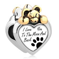Buy Heart I Love You To The Moon And Back Dog Paw Mickey Mouse Charm Beads Fit Pandora Jewelry Bracelet In Cheap Price On M Alibaba Com