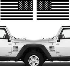 Amazon Com Die Cut Subdued Matte Black American Flag Sticker 3 X 5 Tactical Military Flag Usa Decal Great For Car Hard Hat Car Vinyl Window Bumper Decal Sticker 1 Pair Kitchen