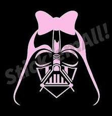 Lady Vader W Bow Window Decal Stick Emall Vinyl Decals