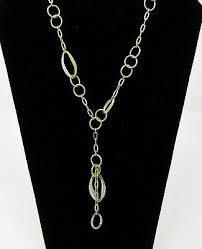 crystal circle hoop chain necklace oval