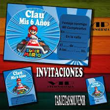 Kit Imprimible Mario Bros Car Cumpleanos Bautismos 279