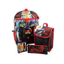 Lego Ninjago Boys 5 piece Backpack and Snack Bag School Set ...