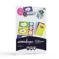 15ct Matte Sticker Paper White Astrobrights Target