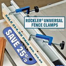 These Compact Lightweight Fence Clamps Rockler Woodworking And Hardware Facebook