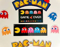 Pacman Stickers Etsy