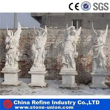marble angel statue with wings garden