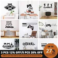 Best Deal 99792 Gamer Vinyl Wall Stickers For Game Room Decoration Children S Room Bedroom Door Sticker Decoration Removable Mural Poster S23 Cicig Co