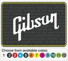 8 Gibson Guitar Music Amp Case Logo Window Car Truck Vinyl Decal Sticker Ebay