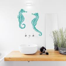 Seahorse Wall Decal Seahorse Wall Sticker Wallums