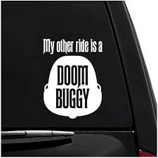 Amazon Com Doom Buggy Haunted Mansion Vinyl Vehicle Sticker Computers Accessories