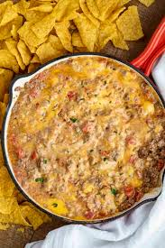 cheesy beef rotel dip dinner then