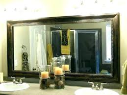 how to frame a bathroom mirror with