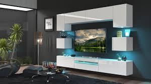 Moderne Wohnwand Schrankwand Hochglanz Wohnzimmer Besta N1 Inkl