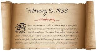 Image result for Feb. 15, 1933