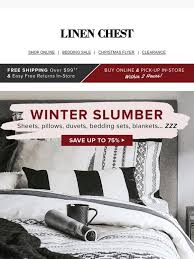 linen chest the perfect winter bed
