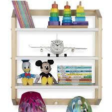 Utah 3 Tier Floating Shelves With 3 Hooks For Nursery And Kids Room