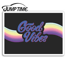 Jump Time Good Vibes Vinyl Stickers Hippy Retro Sticker Laptop Luggage Waterproof Car Decal Window Bumper Auto Accessories Car Stickers Aliexpress