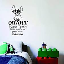 Amazon Com Ohana Wall Decals Nursery Ohana Means Family Wall Decal Quote Lilo And Stitch Vinyl Sticker Baby Kids Nursery Wall Art Home Decor Q 049 By Fabwalldecals 18 Tall X 32 Wide