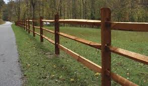 10 Ac2 Cedartone Premium Split 3 Rail Fence Section At Menards