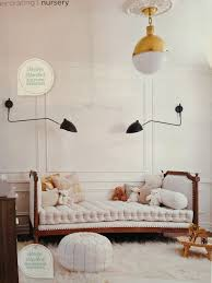 Chic Kids Room With A White Leather Moroccan Pouf Ottoman Kid Room Decor Kids Interior Kids Room