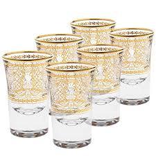 silver decorative shot glasses