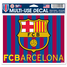 Fc Barcelona Official Europe 4 Inch X 6 Inch Car Window Cling Decal By Wincraft Walmart Com Walmart Com