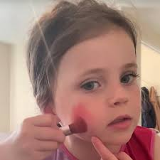 makeup tutorial video is too cute