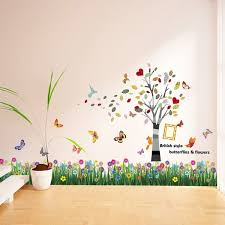Walplus Butterfly Grass And Colorful Photo Frame Wall Decal Wayfair