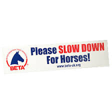 British Equestrian Trade Association Slow Down For Horse Window Sticker