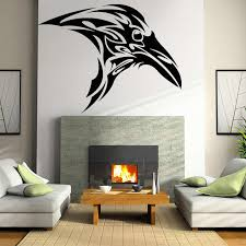 Raven Wall Sticker Gothic Celtic Crow Vinyl Decal Bird Animal Mural Bedroom Headboard Decoration Crows Removable Home Decor O262 Wall Stickers Aliexpress