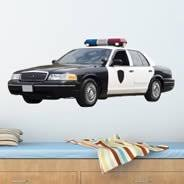 Police Car Wall Decal Dezign With A Z