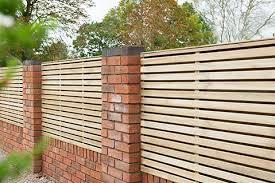 1 8m X 0 9m Pressure Treated Contemporary Double Slatted Fence Panel Forest Garden