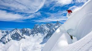 wallpaper mounns snow ski france