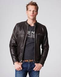 lucky brand leather jacket mens