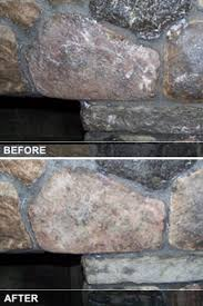 cleaning fireplace soot from brick or