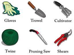 garden tools names garden tool set