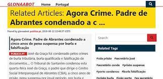 Agora Crime: Portal Internacional destaca burlão das seringas - Cidadãos  por Abrantes