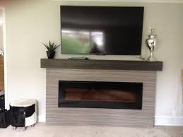 after linear fireplace surround with