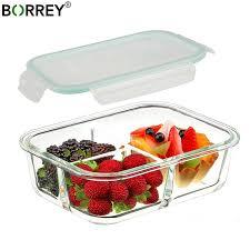 borrey 1000ml microwave glass lunch box