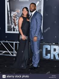 Ryan Coogler and wife at The Creed ...