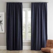 windowpane blackout curtain panel