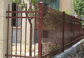 Galvanized Steel Picket Fence Perimeter Security Fencing Panels